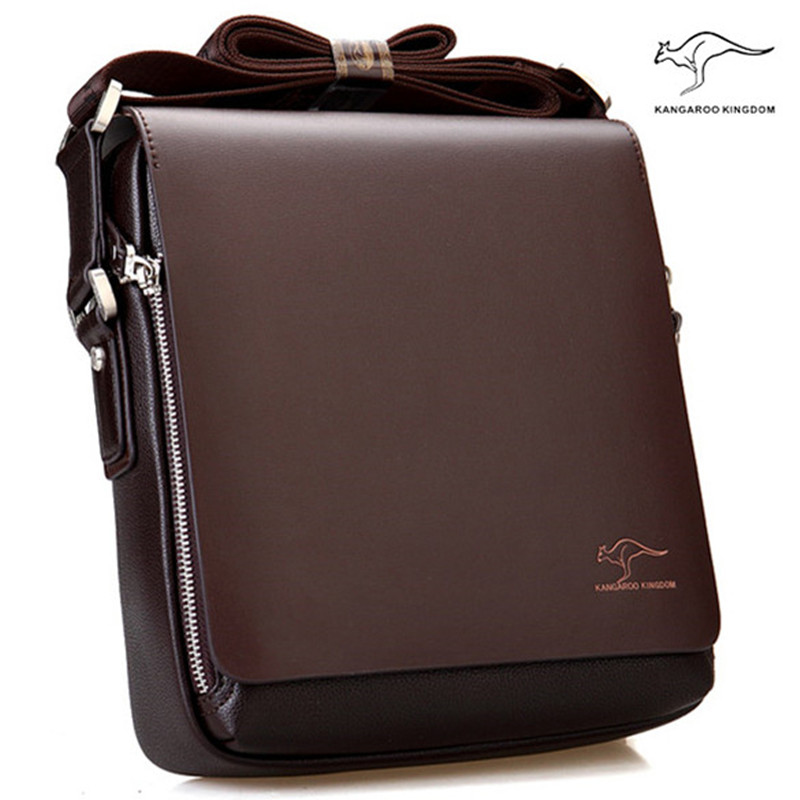 New Arrived Brand Kangaroo men s messenger bag Vintage leather shoulder bag Handsome crossbody bag Free