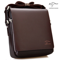 New Arrived Brand Kangaroo Men S Messenger Bag Vintage Leather Wtih Pu Shoulder Bag Handsome Crossbody