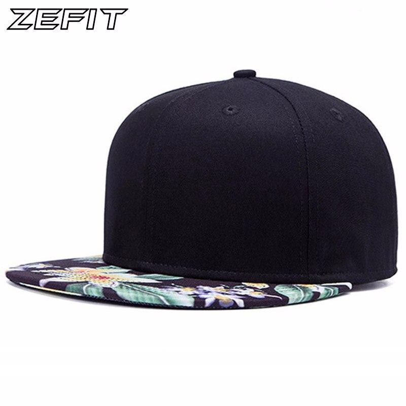 Real Pictures 2017 NEW popular good quality snap back   baseball     cap   men fashion women hat flat Flower brimhip hop snapback   cap