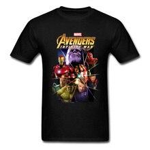 Infinity War Thanos T-Shirt Endgame Avengers 4 Pure Cotton Men Tops Tees Marvel T Shirt Great Tshirts High Quality