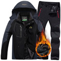Men Winter Waterproof Jacket Pants Trekking Hiking Camping Ski Snowboard Jackets Outdoor Thermal Fleece Ski Suits For Men