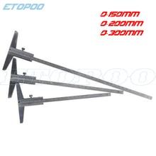 0-150 мм 0-200 мм 0-300 мм стальная глубина штангенциркуль Калибр микрометр глубина измерительный инструмент