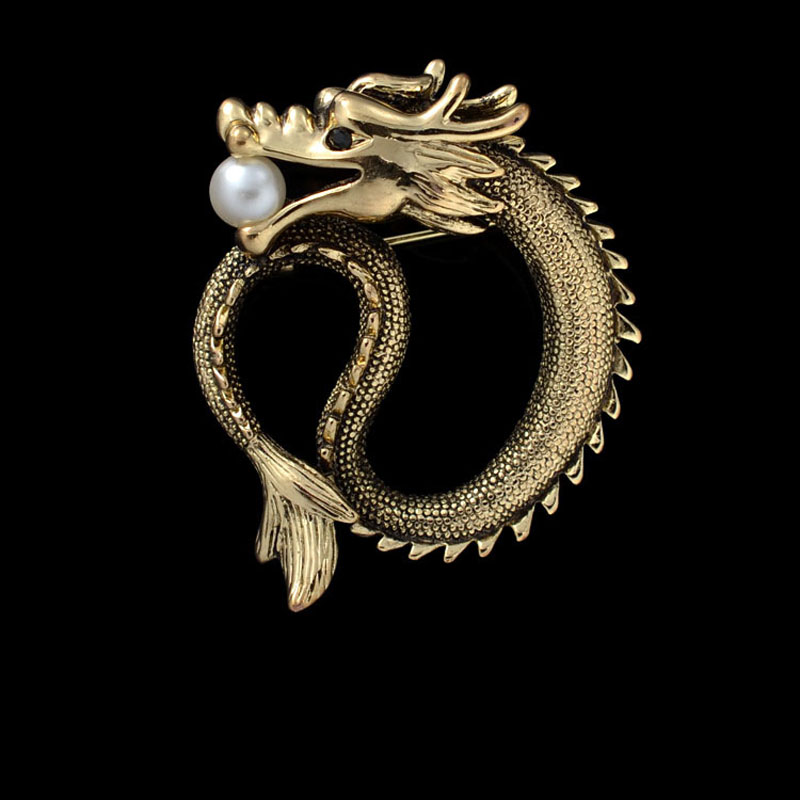 Online Buy Wholesale dragon brooch from China dragon ...
