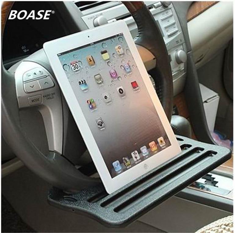 Մեքենայի iPad Աջակցություն Կանգնած iningուցահանդեսներ Սեղանով Ղեկի սկուտեղ Խմիչքի համար նախատեսված ըմպելիքի սեղան ՝ մեքենայի ղեկին Անվճար առաքում
