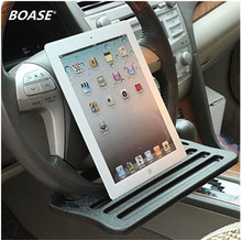 Car iPad Support Stand Dining table Clip Steering wheel Tray Drink Holder desk table for car steering Free Shipping