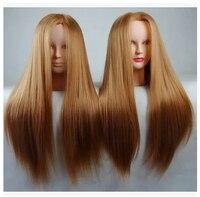 Free shipping!! New Maniqui Head Human Hair Hairdresser Training Head Hair Head Mannequins On Sale