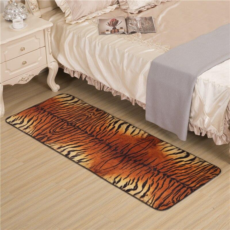 Rétro imprimé léopard tapis Numérique impression Cristal polaire Non-slip tapis tapis de salon chambre tapis de sol Hôtel tapis