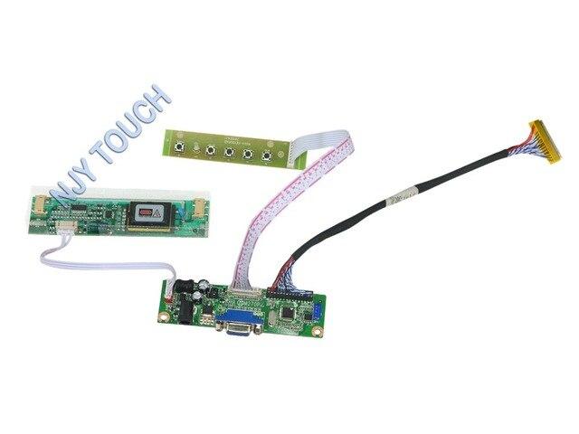 "V. M70A VGA LCD Controlador Board Para 17 ""1280x1024 VE 2 LVDS CCFL M170EG01 kit Placa com Teclado 5-CHAVE Fácil para DIY"