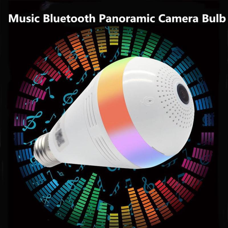 1PCS Speaker 130DPI Smart RGB Bluetooth Light 960P Music Camera 3D VR LED E27 Bulb Light 64G Bulb For Home Hotel