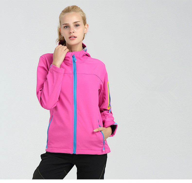 2018 neue Winter Frauen Langarm SoftShell Fleece Winddicht Mäntel Mode Beiläufige Hoodies Hohe Qualität Jacken 89-90