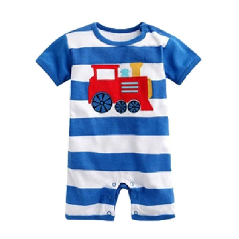 Summer Style Baby Boy Romper Newborn Baby Clothes Cartoon Stripe New Born Baby Clothing Ropa Bebe Children  Rompers HB004 newborn baby rompers baby clothing 100% cotton infant jumpsuit ropa bebe long sleeve girl boys rompers costumes baby romper