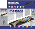 Cheio-Corpo Casa Massagem Turmalina Aquecimento Colchão Vibrando Cabeça Pescoço Almofada Cama de Massagem Terapêutica Massageador Eletrônico
