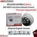Câmera de vigilância hikvision versão original em inglês ds-2cd2142fwd-i (2.8mm) 4mp câmera wdr ip fixo dome ip67 poe cctv câmera