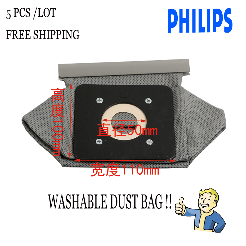 5-Piece/LOT  110mm*100mm *50mm Vacuum Cleaner washable Cloth Dust  Bag for Philips FC8334 FC8344 FC8338 cleaning bag 5 piece lot 110mm 100mm 50mm vacuum cleaner washable cloth dust bag for philips fc8334 fc8344 fc8338 cleaning bag