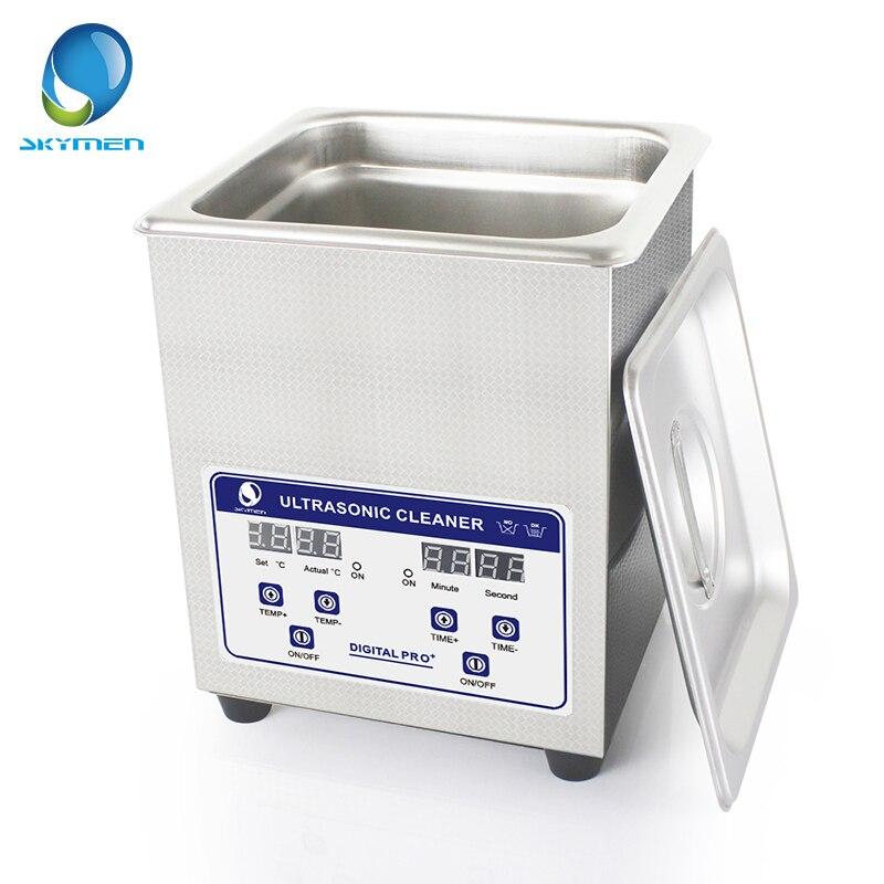 Skymen Numérique Bain À Ultrasons Cleaner 2L 60 w ultrasons solution avec chauffage Pièces Nail Outil Partie Machine De Nettoyage