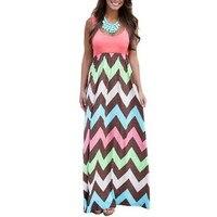 Adogirl Women Summer Sleeveless Maxi Dress Vintage Bohemian Wavy Long Beach Dresses Plus Size XXL 6