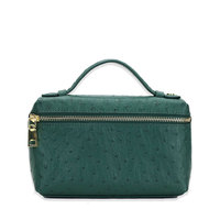New Fashion designer handbag embossed ostrich leather portable bag small clutch bag lady hand bag purse