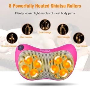 8 Heated Rollers Shiatsu Back