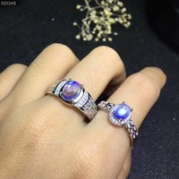 Best Gift For Wedding , Wedding Couple Rings Natural and Real MoonStone Lover's Ring 925 sterling silver