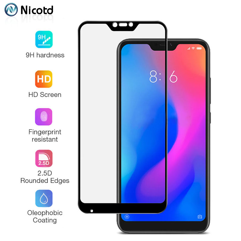Screen Protector For Xiaomi A2 Lite Nicotd Glass Tempered For Xiaomi 5X 6X A1 A2 Redmi 4 Pro 3s Note 3 5 Xiomi 8 Lite 8se Cover