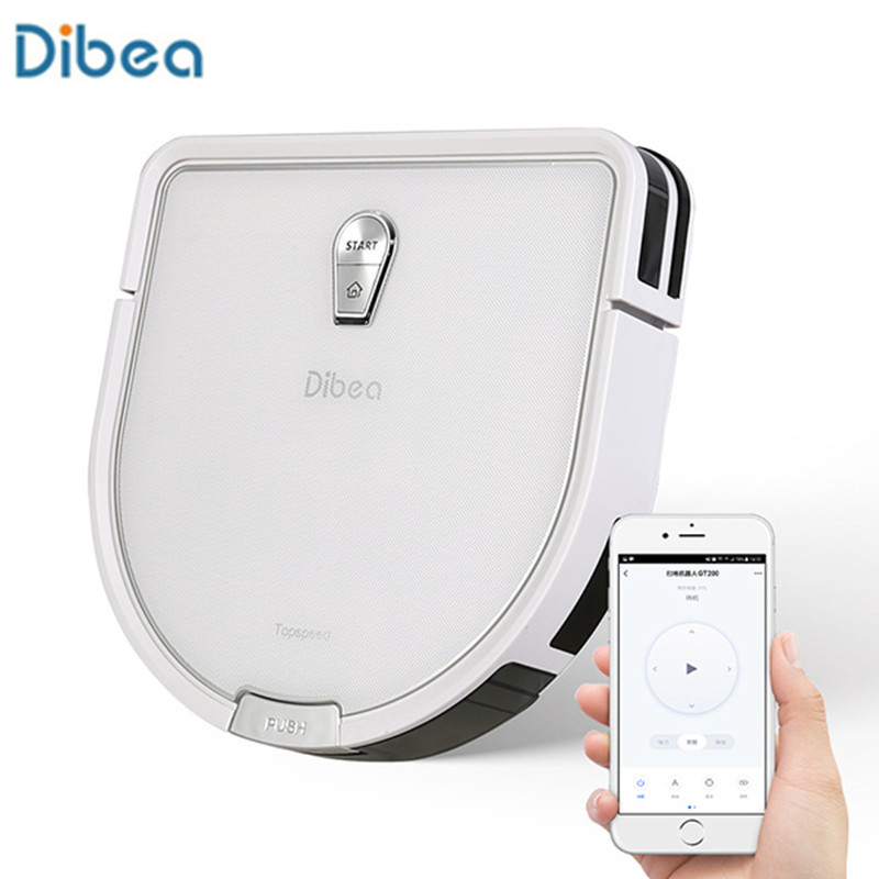 Dibea GT200 inteligentny żyroskop odkurzacz robot na mokro i na sucho wykorzystanie automatyczne zamiatanie pyłu sterylizacja inteligentne planowane mycie mopem