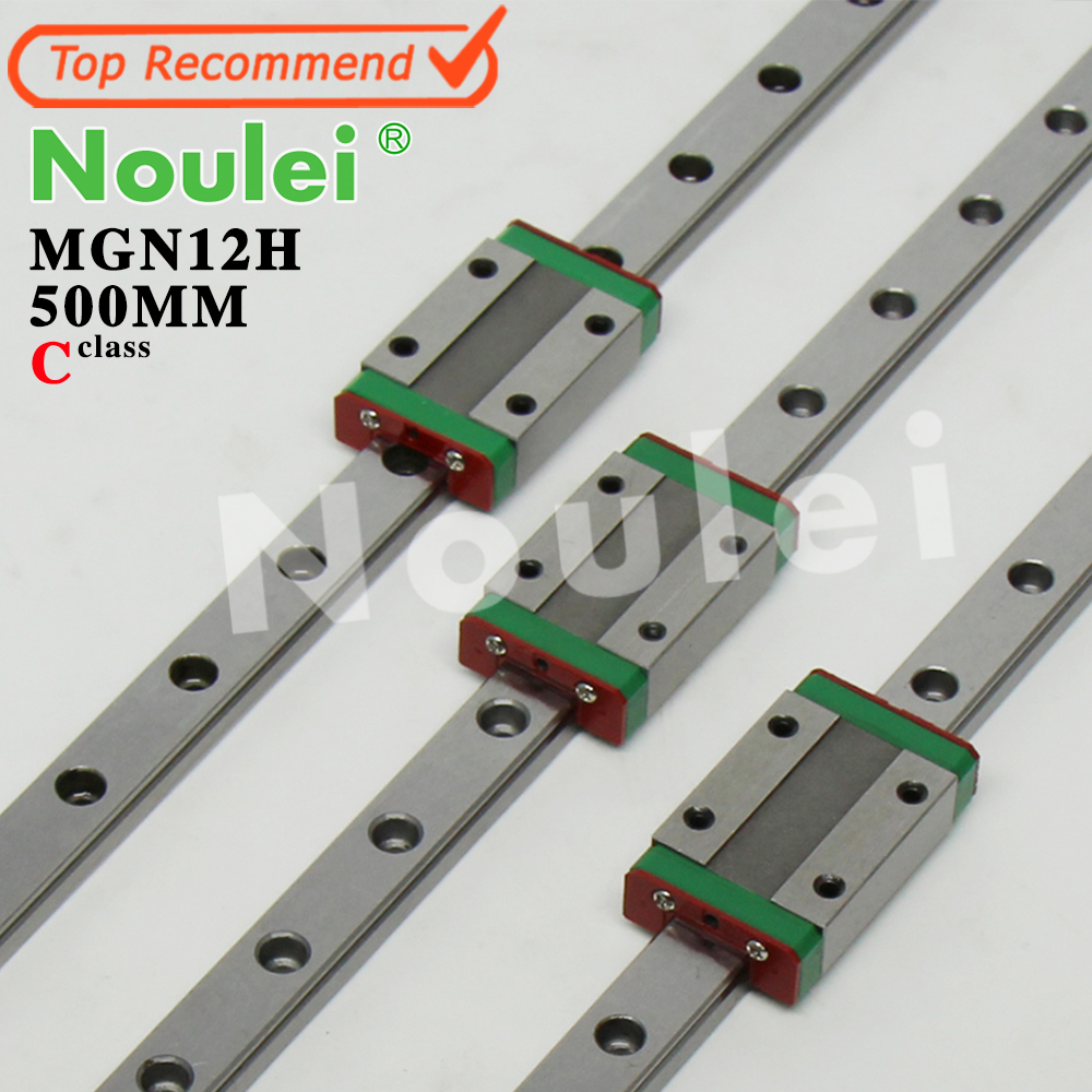 Noulei lineaire geleidingsrail as 12 mm kossel linear mgn12h mgn12 500mm 3pcs 3d printer linear rail flsun 3d printer big pulley kossel 3d printer with one roll filament sd card fast shipping