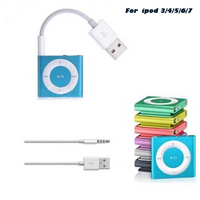 Línea de datos USB de 3,5mm para Apple iPod, adaptador de cable de carga de sincronización para Audio y vídeo, USB a Jack de 3,5mm, reproductor MP3 y MP4, altavoz