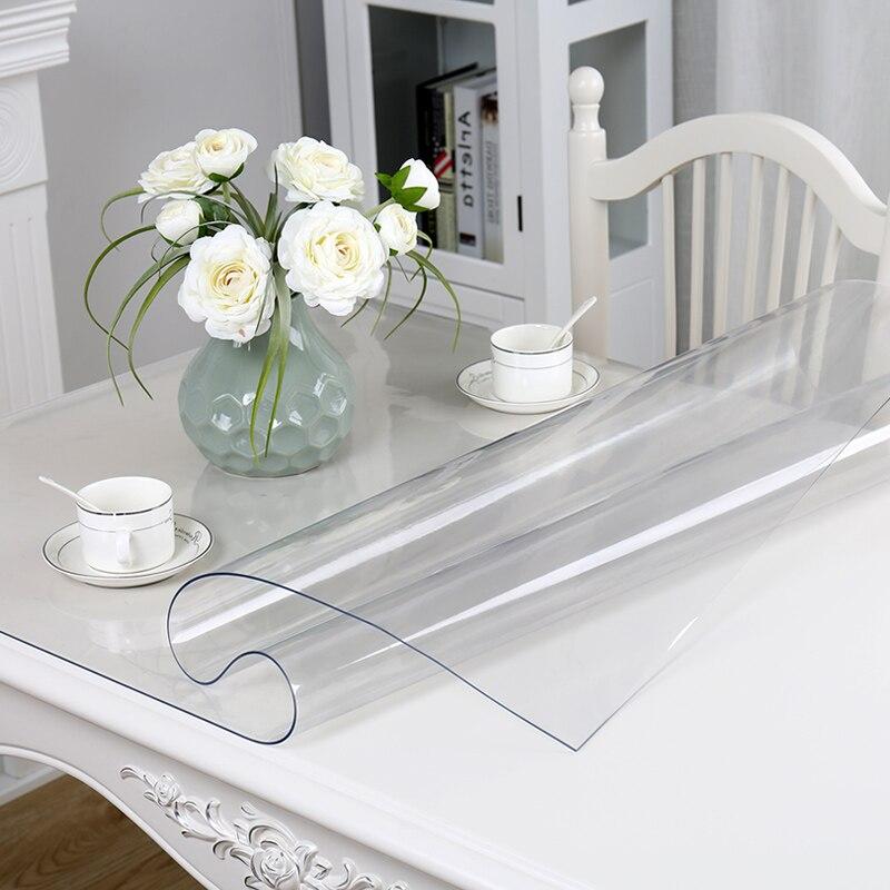Mehko steklo PVC Vodotesno prt prosojno smrznjeno mizo za debelino 1 - Domači tekstil