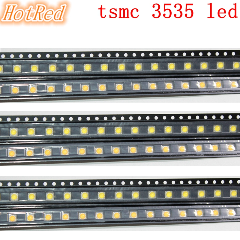 Original 100pcs 3W TSMC 3535 SMD High Power LED Diode Chip Light Emitter Neutral White Warm White Instead Of CREE XPE XP-E Led