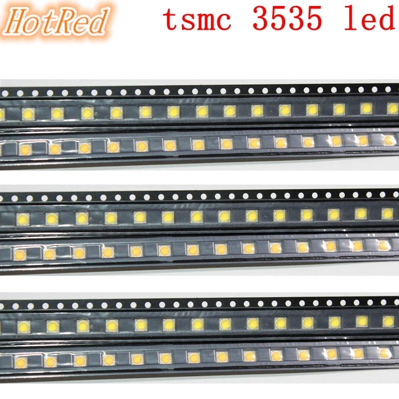 Original 100pcs 3W TSMC 3535 SMD High Power LED Diode Chip Light Emitter Neutral White Warm White Instead Of CREE XPE XP-E Led
