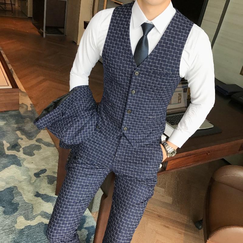 Trois Unique Nouveau D'affaires De Masculin 1 Polyester Mince pièce Marié Robe Solide Costume 2 Boucle Couleur Mariage AAxOCwq5r