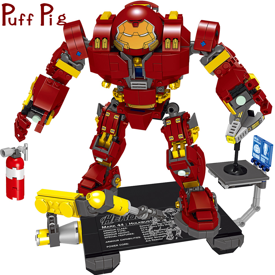 все цены на 776PCS Infinity War Avengers Hulkbuster Iron Man Mecha Compatible Legoed Marveled Super Heroes Kids Boys Building Blocks Toys онлайн