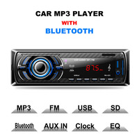 RK 523 Car Stereo Audio MP3 Player Bluetooth Speaker Card Reader USB Flash Drive Machine Mobile