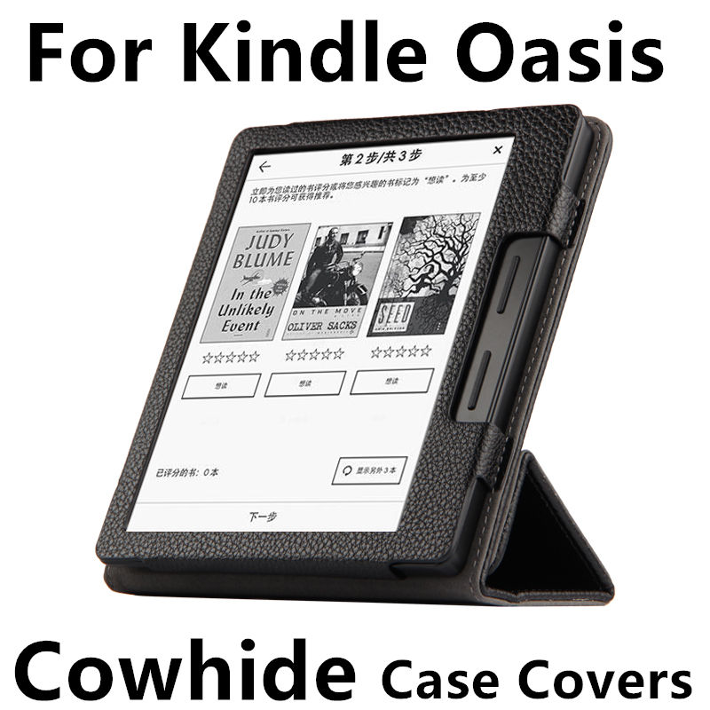 Case Cowhide For Kindle Oasis PU Protective New 2016 For Amazon eBook Reader Smart Cover Protector Genuin leather Sleeve 6'' sheep pu leather sleeve bag case for amazon all kindle 6 0 inch cover for kindle oasis paperwhite voyage touch ereader ko3