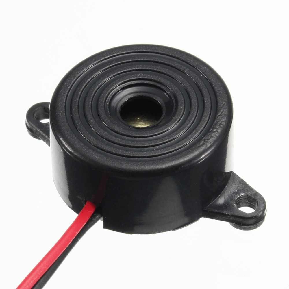 Tahan lama 3-24 V Piezo Buzzer Beeper Alarm 95DB Suara Terus Menerus Untuk Arduino Elektronik Mobil Van