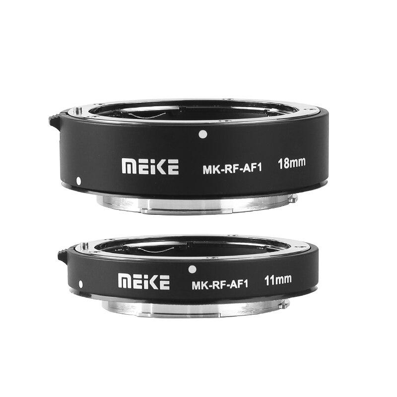 Meike MK-RF-AF1 en métal Auto Focus Macro Extension Tube anneau 11mm + 18mm pour Canon EOS-R EOS-RP série RF caméra