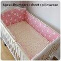 ¡ Promoción! 6 UNIDS Bebé juego de cama para cuna hojas ropa de cuna cuna bebé parachoques kit berco, (parachoques + hoja + funda de almohada)