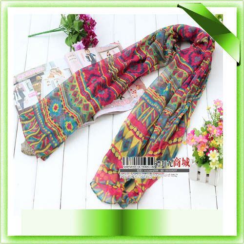 [Visual Axles] 2017 New Fashion Women Malaysia Bohemian Cotton Voile Aztec Tribal Scarf Hijab