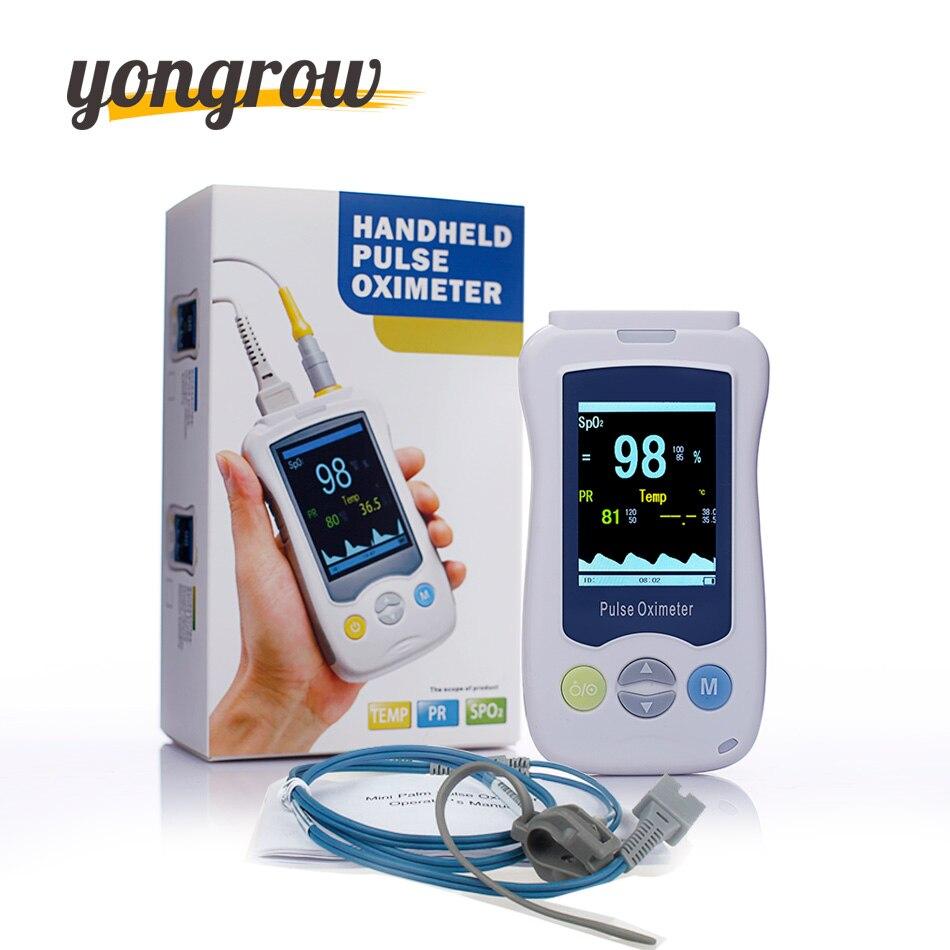 Yongrow Médical Du Bout Des Doigts Oxymètre Oxymètre De Pouls Portable Mini De Pulso De Dedo Bébé Néonatale SPO2 en Oxygène du Sang De Poche OLED