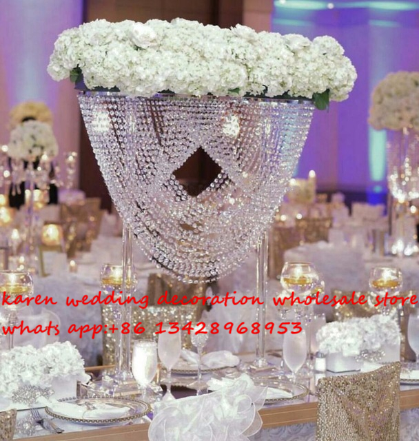 Tall wedding table centerpiece flower stand cake