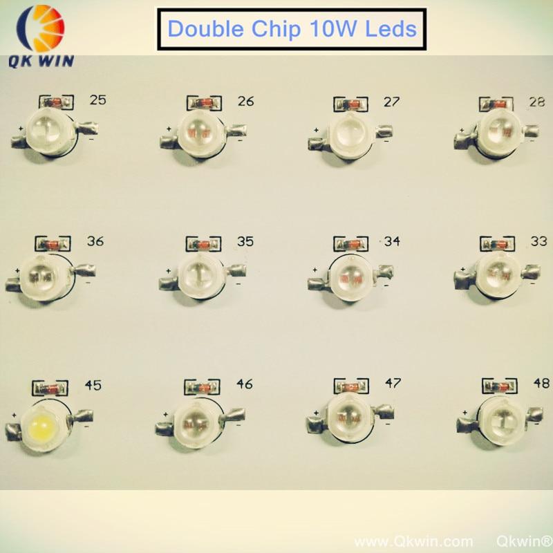 4 шт. Qkwin 1000 Вт Led завода светать 100x10 Вт высокой мощности двойной чип привело гидропоники освещения система полный ассортимент
