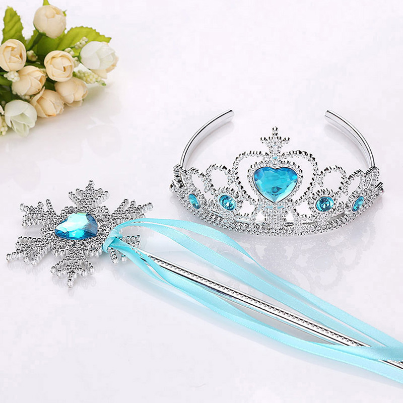 New Girls Princess Crown Hair Accessories Bridal Crown Crystal Diamond Tiara Hoop Headband Hair Bands For Kids Party Hairbands elsa tiaras princess crown hair accessories crystal diamond candy color tiara magic wand party bridal wedding jewelry accessory