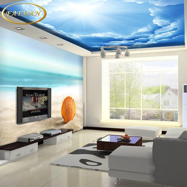 Personalizada foto wallpaper 3d wallpaper cielo azul y - Papel pintado aislante termico ...