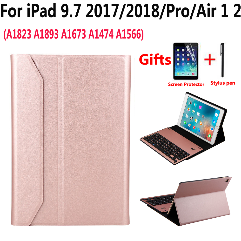 Detach Bluetooth Keyboard Case Cover for New Apple iPad 9.7 2017/2018 5th/6th Generation 5 Air Air1 6 Air 2 Air2 Pro 9.7 Funda