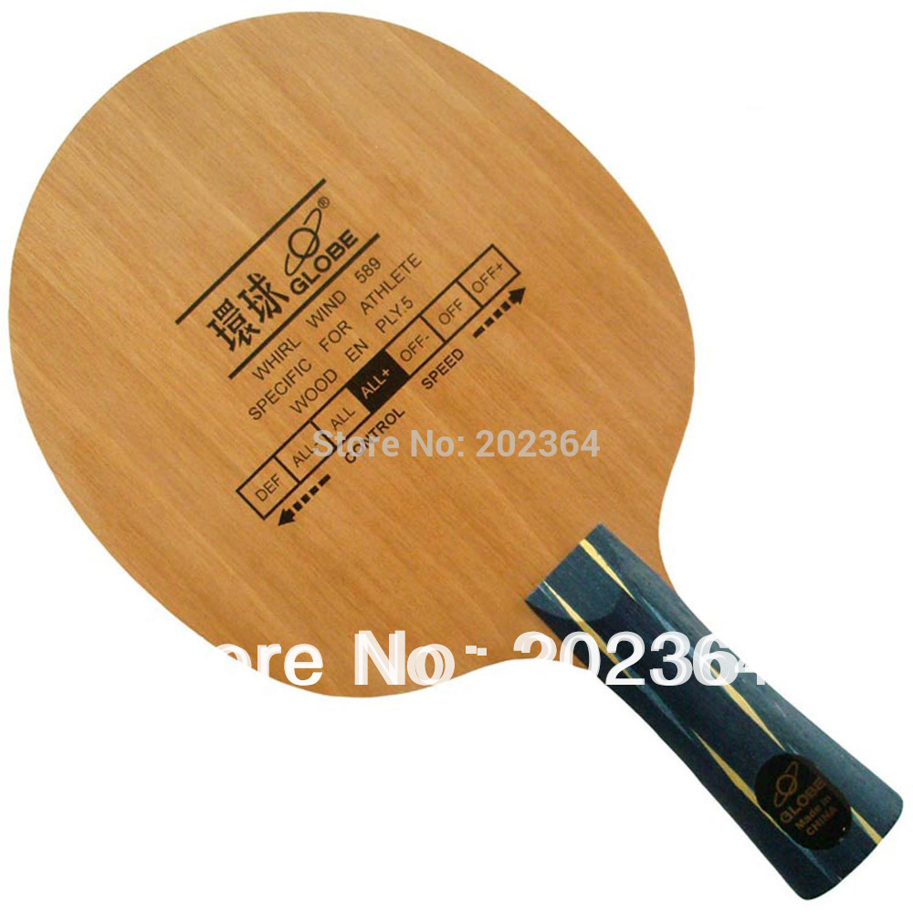 Globe Whirl Wind 589 (Specific For Athlete) 5-Plywood, All+ Table Tennis Blade for PingPong Racket bona dea bona dea 586