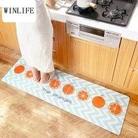 WINLIFE בסגנון יפני מחצלות שטיחים כתום נגד החלקה עמיד למים לחדר אמבטיה/מלון/מטבח/יוגה לשחק בריסק תחושה שטיחים בית