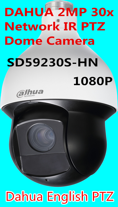 free shipping,DAHUA 2MP 30x Network IR PTZ Dome Camera 1080P Full HD IP High-speed Dome Camera SD59230T-HN replace SD59230S-HN dahua full hd 30x ptz dome camera 1080p