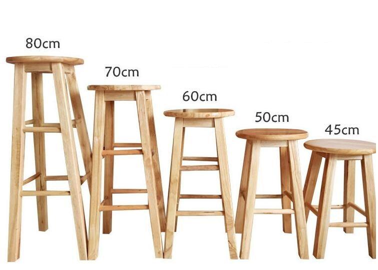 Superb 45Cm 50Cm 60Cm 70Cm 80Cm Height Bar Stool Solid Wood Top Bralicious Painted Fabric Chair Ideas Braliciousco