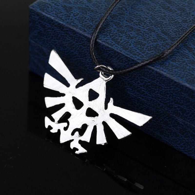 4234d67c8c0e3 US $0.97 33% OFF|The Legend Of Zelda Pendant Antique Bronze Vintage  Triforce Necklace High Quality Women And Men Jewelry Necklace Accessories  30-in ...