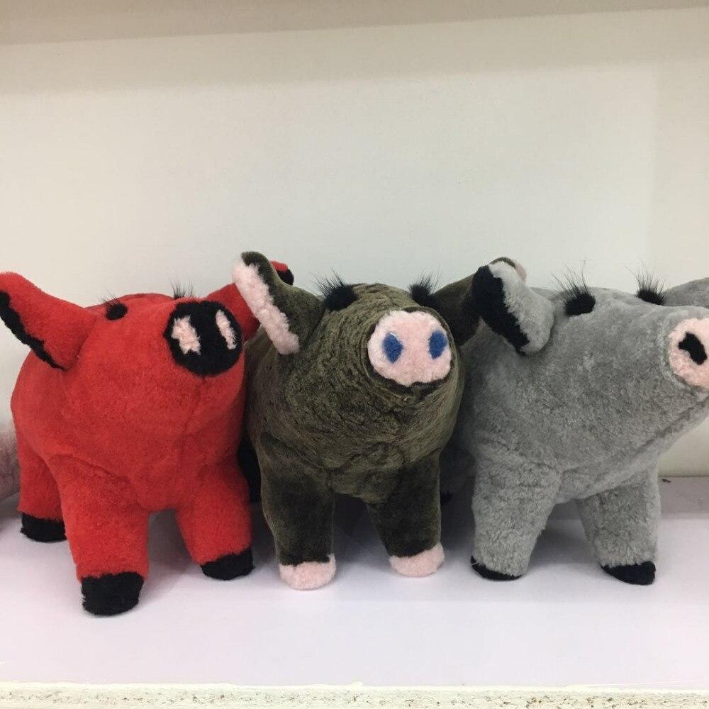 Magicfur 1pc Real Shearling Sheep Fur Pig Charm Bag